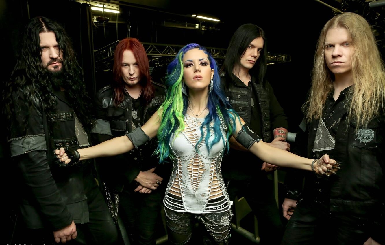 Фото обои Металл, Melodic Death Metal, Arch Enemy, Шведская группа, Алисса Уайт-Глаз, Рок-Группа, Дэт-метал