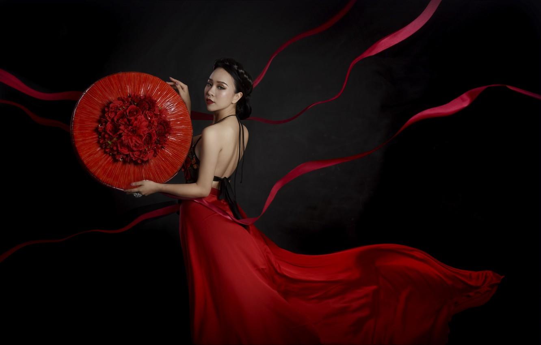 Фото обои девушка, стиль, Hồng Duyên