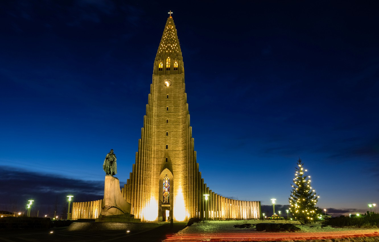 Обои рейкьявик, Исландия, ночь, свет. Города foto 8
