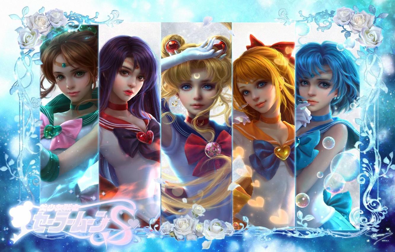 Фото обои аниме, арт, Sailor Moon, Сейлор Мун, sunmomo 珊