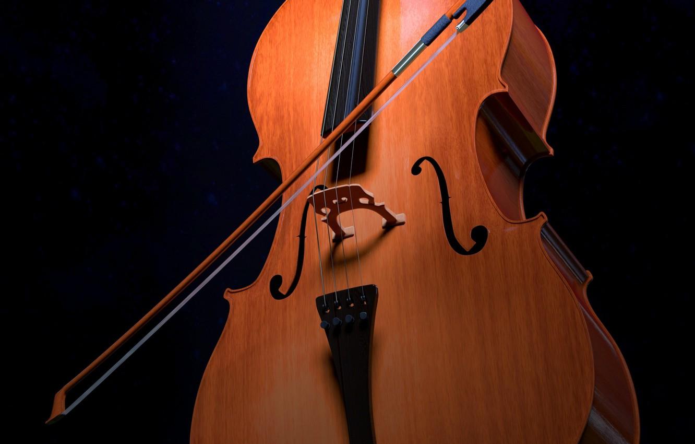 Фото обои музыка, виолончель, инструмент, смычок