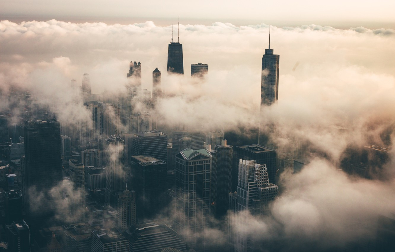 Обои туман. Города foto 12