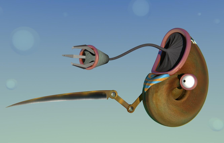 Фото обои joke, blender3d, 3dart, nanobot, blenderrender