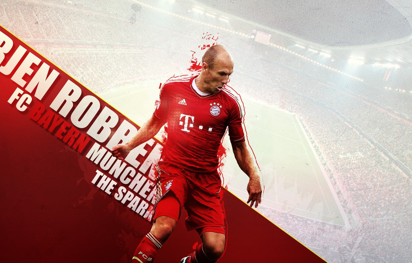 Фото обои wallpaper, sport, stadium, football, player, FC Bayern Munchen, Allianz Arena, Arjen Robben