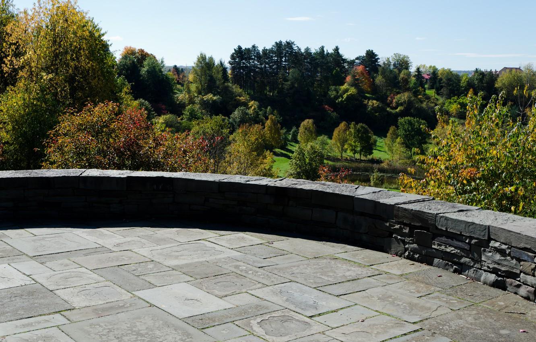 Фото обои Осень, Панорама, USA, США, Fall, Autumn, Panorama, Cornell Plantations