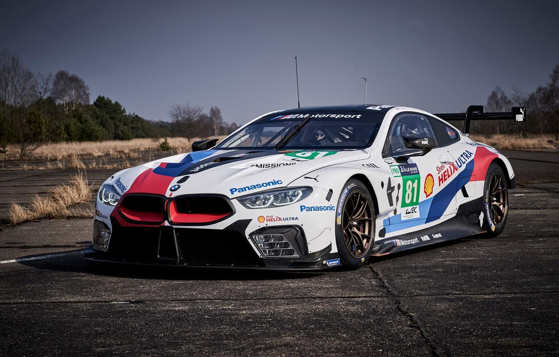 Фото обои гоночное авто, 2018, автоспорт, GTE, BMW M8