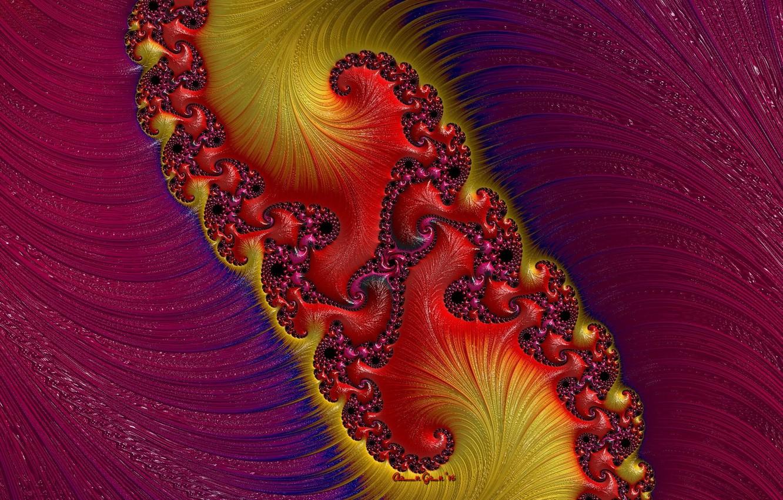 Фото обои красный, абстракция, узор