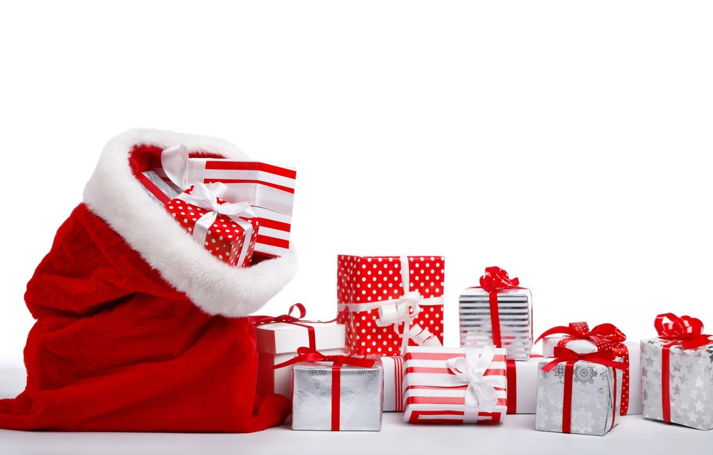 Фото обои подарок, Новый год, мешок, New Year, подарочки