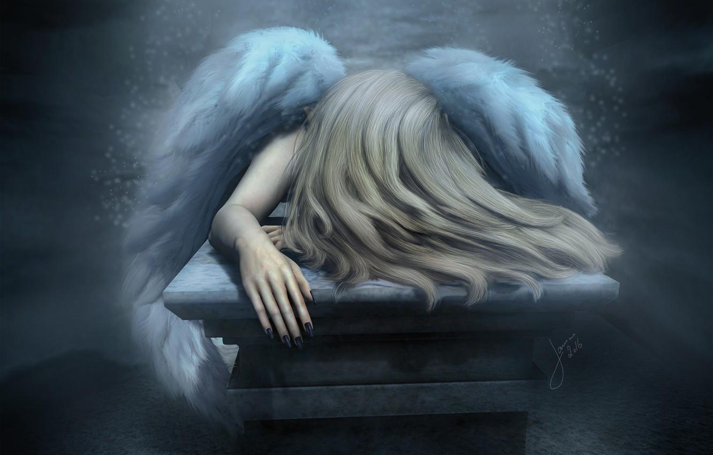 Грустная картинка ангела