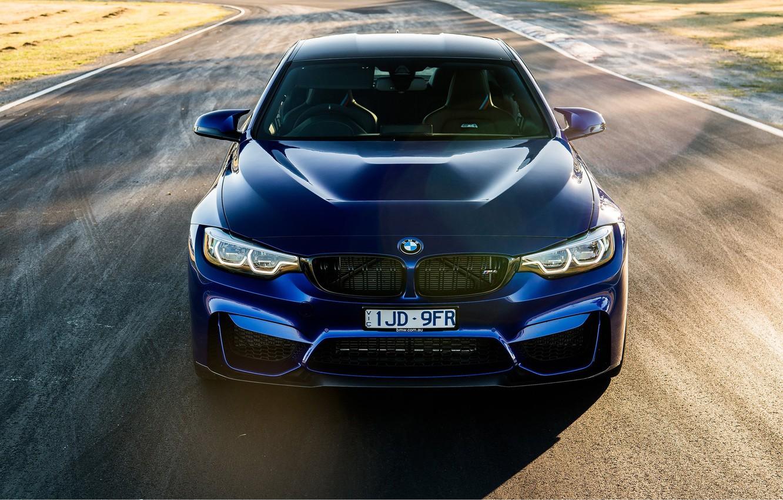 Фото обои спорткар, вид спереди, 2018, BMW M4 CS