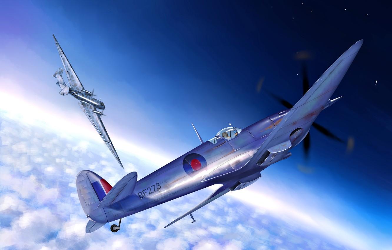 Обои spitfire, mk.ixc, Supermarine. Авиация foto 15