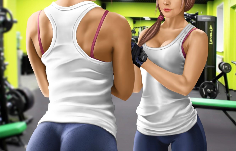 Фото обои тело, фитнес, danliz, девушкa