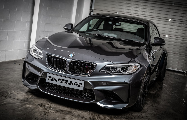 Фото обои бмв, купе, BMW, черная, Black, Coupe, 2-Series, F87