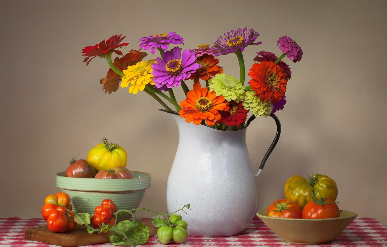 Обои на рабочий стол натюрморт с цветами