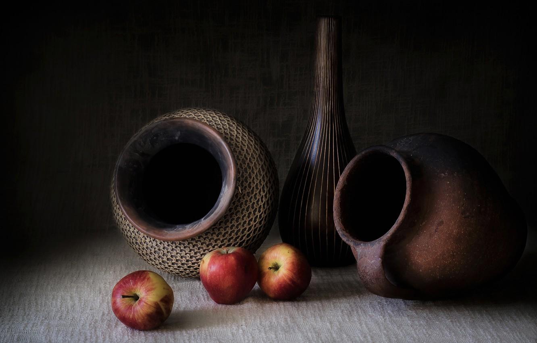 картинки натюрморт с кувшином и яблоком снимка