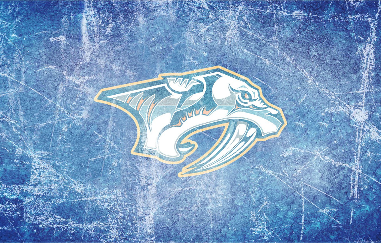 Фото обои лед, хищники, эмблема, NHL, НХЛ, Nashville, Нэшвилл, хоккейный клуб, Nashville Predators, Нэшвилл Предаторз