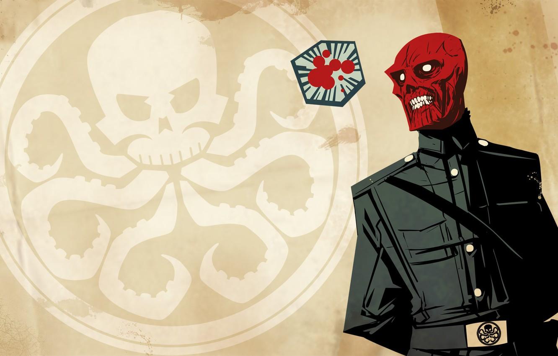 Фото обои Marvel, комикс, comics, Red Skull, Гидра, Красный Череп