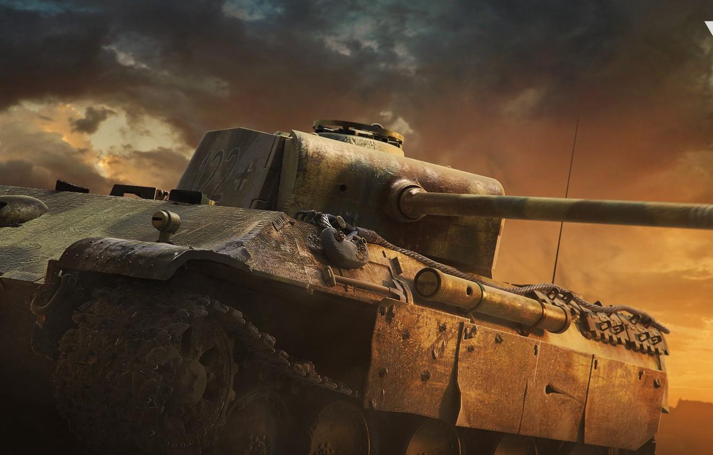 Фото обои башня, танк, пушка, War thunder Cinematic