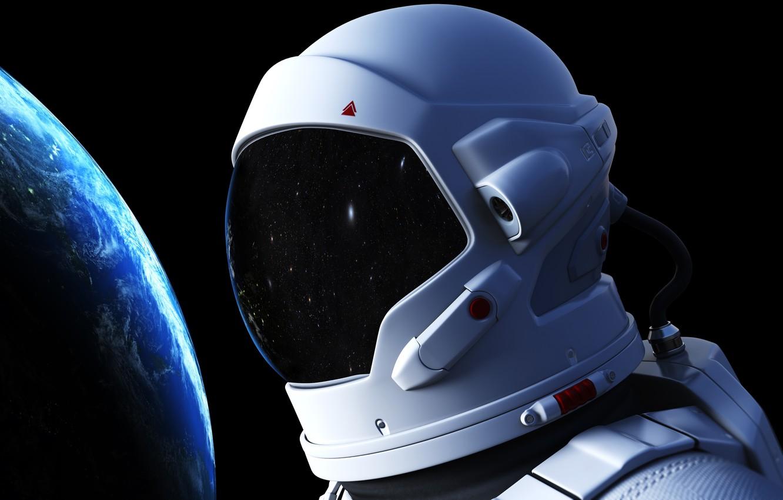 Фото обои космос, космонавт, атмосфера, арт, Земля, гравитация, красотища, бесконечность, невесомость, боке, astronaut, wallpaper., выход открытый космос, …