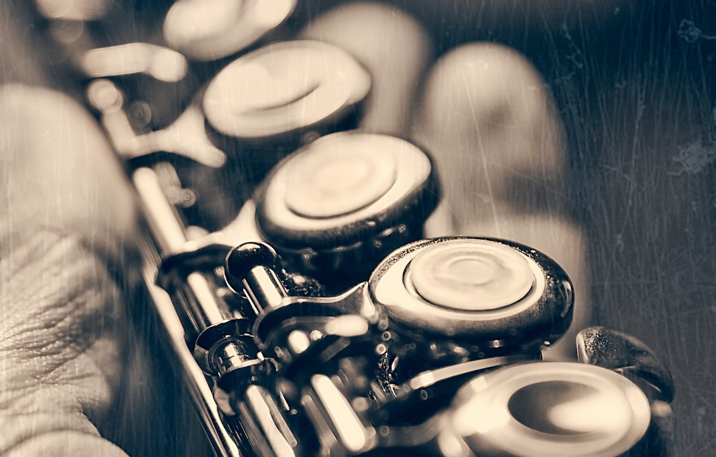 Фото обои макро, музыка, инструмент