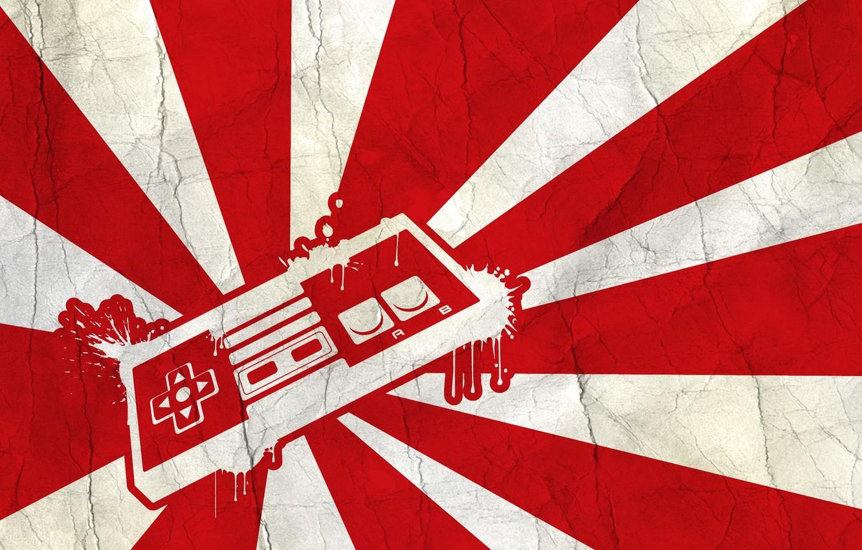Фото обои белый, красный, кнопки, джойстик, Nintendo, контроллер, buttons, Нинтендо