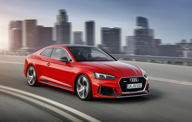 обои Audi City German Red Race Speed Rs5 2018 Drive Rs A5