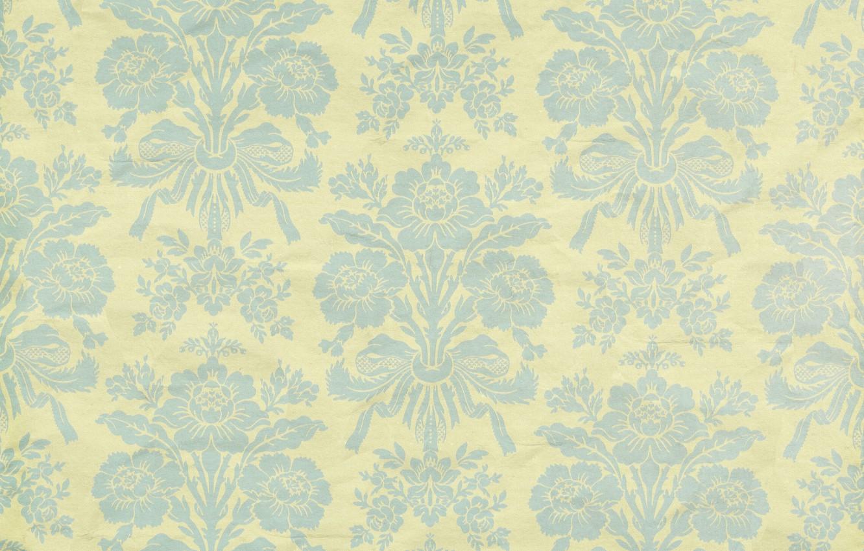 Фото обои узор, орнамент, vintage, texture, background, pattern, paper