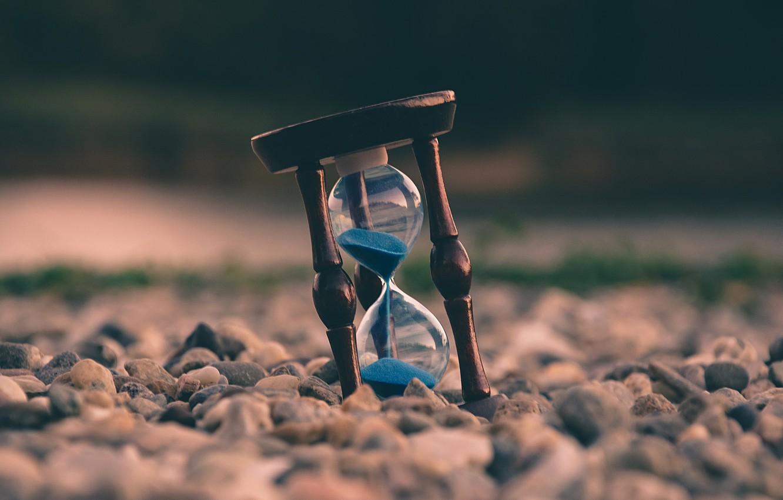 Фото обои песок, камни, песочные часы