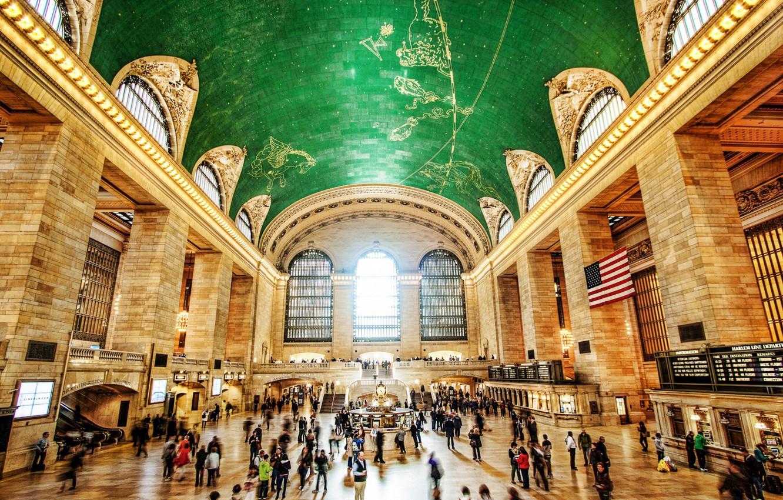 Фото обои Нью-Йорк, США, grand central terminal, центральный вокзал