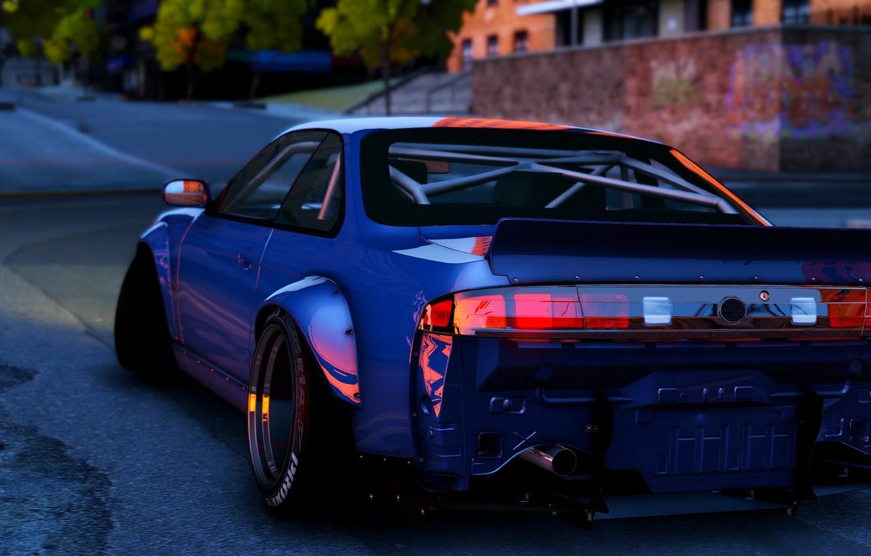 Фото обои стиль, автомобиль, вид сзади, Grand Theft Auto V