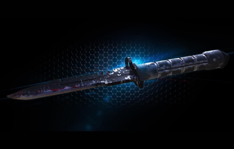 Фото обои оружие, арт, нож, Jonathan Pierre, M9 BAYONET