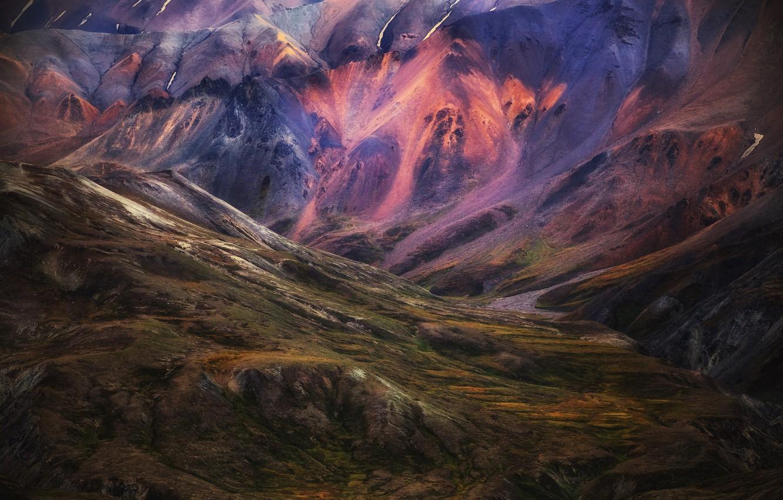 Фото обои горы, природа, цвет, Исландия