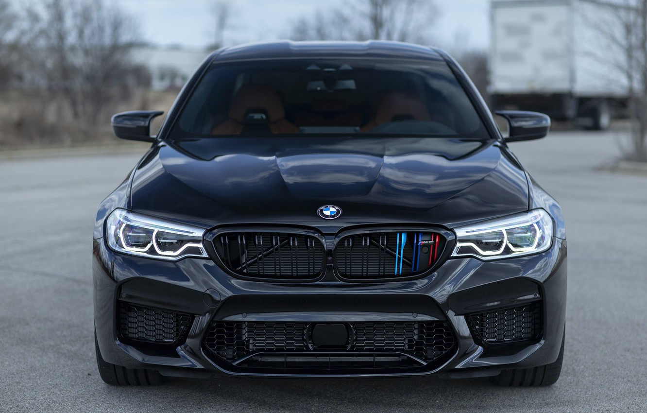 Фото обои BMW, Front, Black, Sight, F90