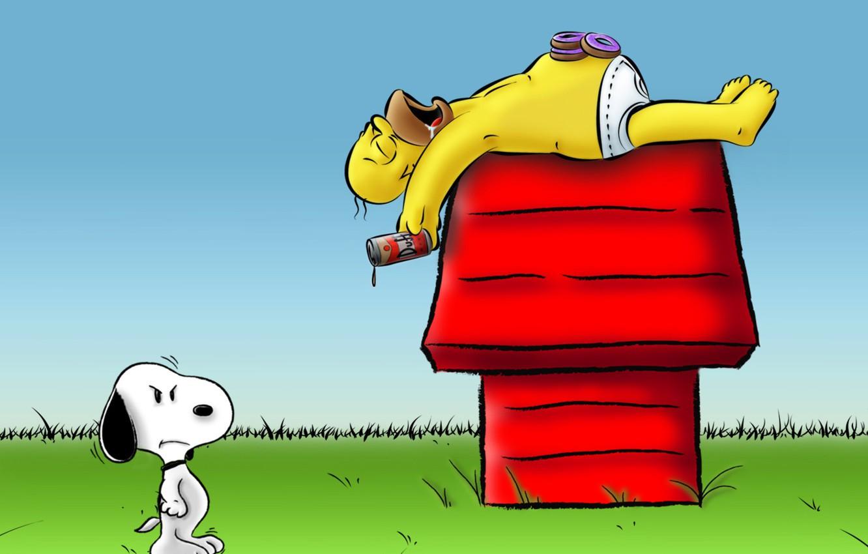 Обои Snoopy. Рендеринг foto 15
