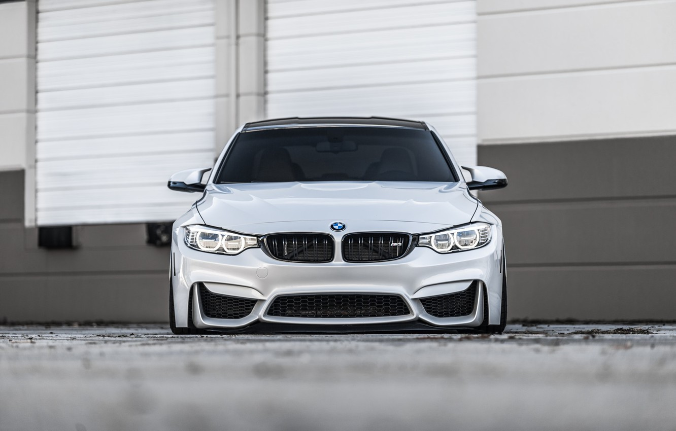 Фото обои BMW, Front, Face, Silver, F82, Sight
