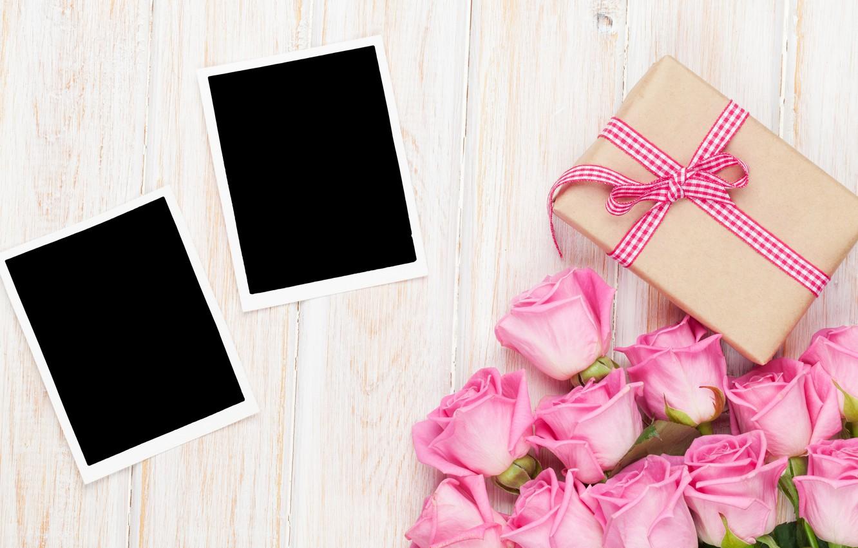 Фото обои розы, love, wood, pink, romantic, sweet, gift, petals, roses, valentine`s day