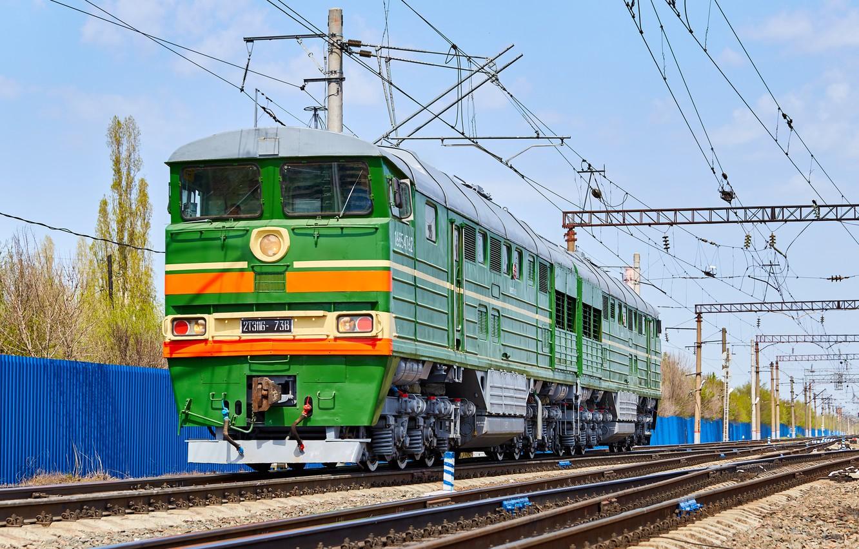 Фото обои Локомотив, Тепловоз, Железная Дорога