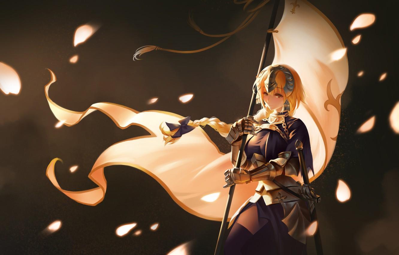 Фото обои девушка, фон, аниме, флаг, Fate / Grand Order