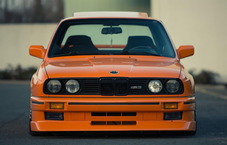 Фото обои Orange, Bmw, E36, M3
