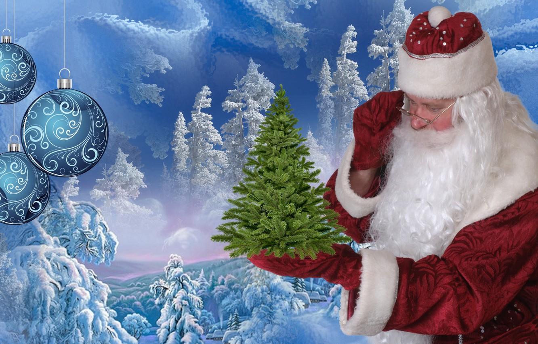 Картинки новый год дед мороз и елка, баба картинки прикольные
