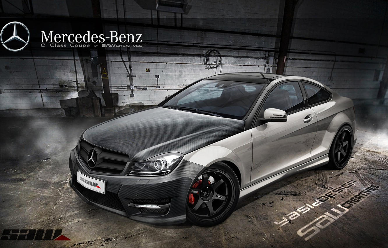 Фото обои car, авто, тюнинг, Мерседес, Mercedes, автомобиль, auto, tuning, Yasid Design, Yasid Oozeear, Mercedes c сlass …