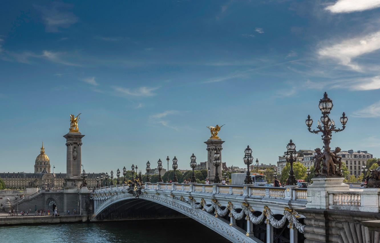 Обои pont alexandre iii, мост александра iii, paris, france. Города foto 7