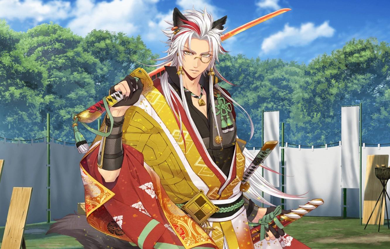 Фото обои sword, game, war, anime, katana, ken, wolf, vampire, blade, samurai, hero, asian, warrior, manga, Werewolf, …