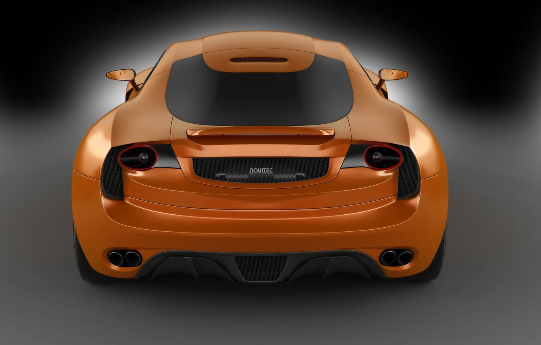 Фото обои оранжевый, вид сзади, orange, Novitec TuLesto