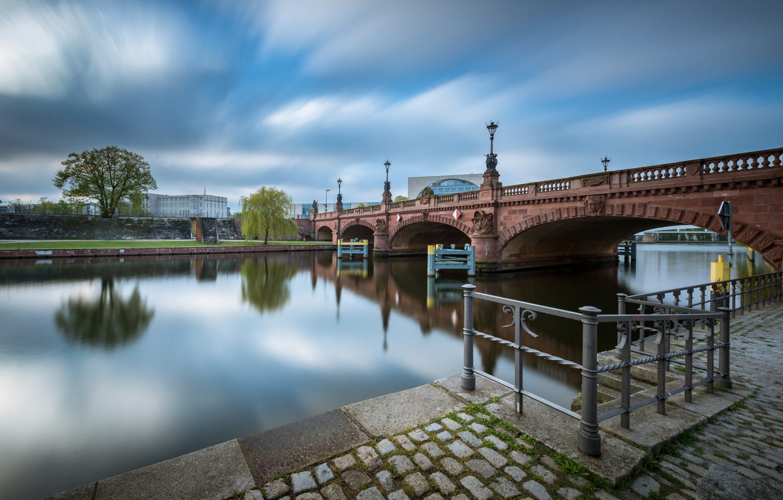 Фото обои мост, Германия, Берлин, Шпрее, Moltkebrücke