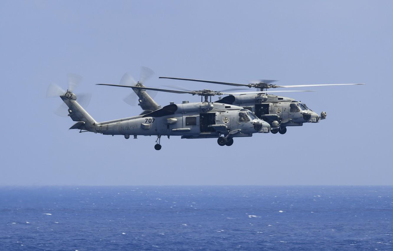 Обои MH-60R, армия, Sea Hawk helicopter. Авиация foto 12