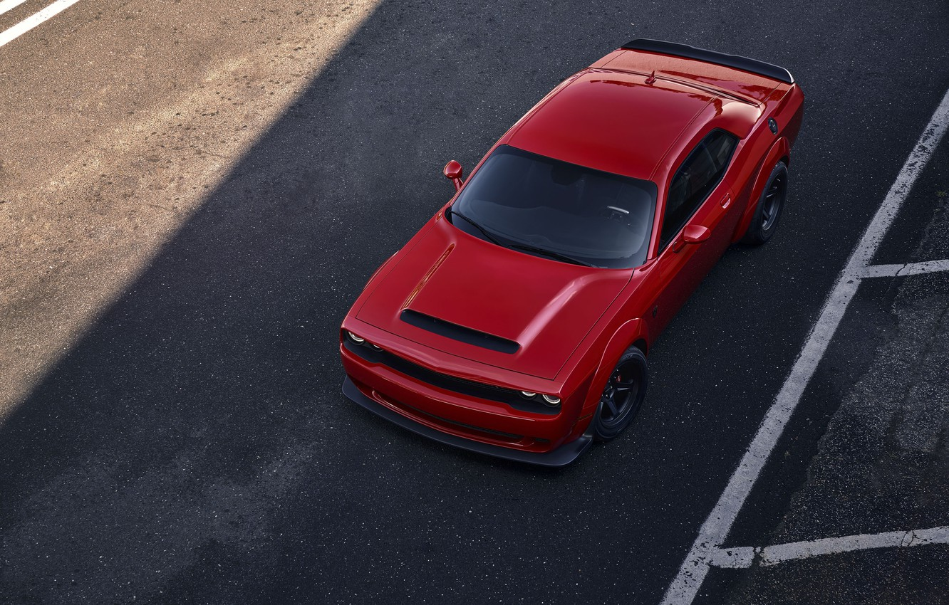 Фото обои Challenger, red, sportcar, 2018, musclecar, SRT, Demon