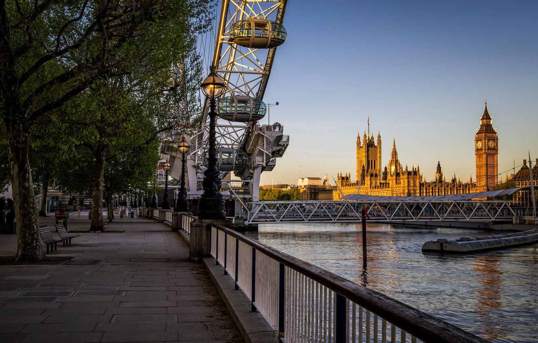 Обои парламент, темза, башня. Города foto 8