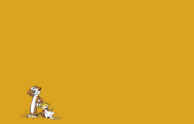 Фото обои тигр, ребенок, мальчик, комикс, Calvin and Hobbes, Кельвин и Хоббс, Кельвин, Хоббс