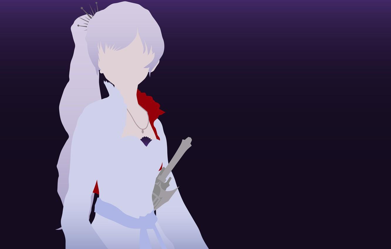 Фото обои kawaii, sword, dress, minimalism, anime, pretty, ken, blade, bishojo, Weiss Schnee, RWBY, japonese